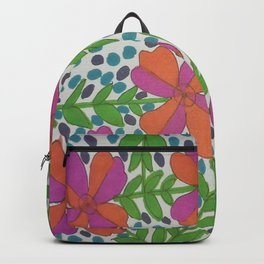 Jungle Rain Flowers Backpack