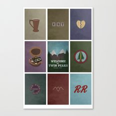 Twin Peaks colors Canvas Print