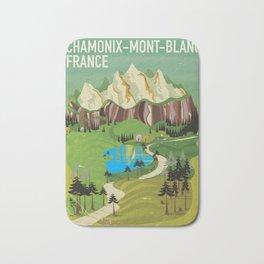 Chamonix-Mont-Blanc,France travel poster. Bath Mat