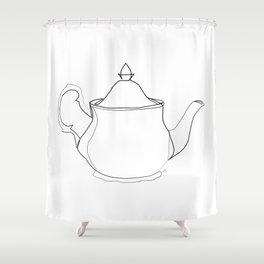 """ Kitchen Collection "" - Tea pot Shower Curtain"
