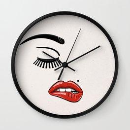GIRL FACE - EYE - LIPS Wall Clock