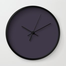 Flare ~ Blue Plum Coordinating Solid Wall Clock