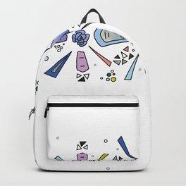geometric flower crown Backpack