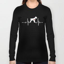 Giant Schnauzer dog heartbeat Long Sleeve T-shirt