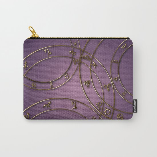 Zodiac signs and circles pink Carry-All Pouch