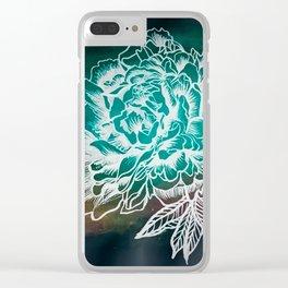 Waterflower II Clear iPhone Case