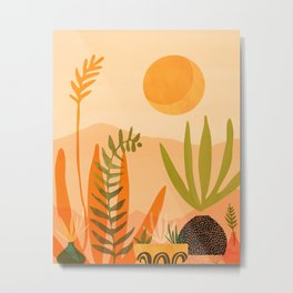 Desert Harvest / Golden Garden Illustration Metal Print