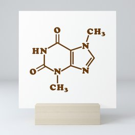 Chocolate Theobromine Molecule Chemical Formula Mini Art Print