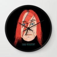 iggy Wall Clocks featuring Iggy Stardust by Chris Piascik
