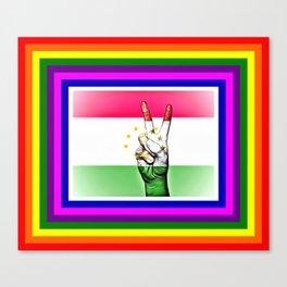 Tajikistan World Peace Flag Canvas Print