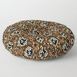 Snakeskin Pattern (Brown) Floor Pillow
