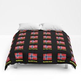 flag of norway 5 snow,scandinavia,scandinavian,norwegian,oslo Comforters