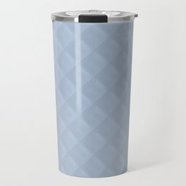 Powder Blue Stitched and Quilted Pattern Travel Mug