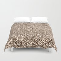 leopard Duvet Covers featuring Leopard by Zen and Chic