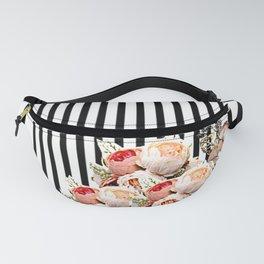 Flowers in stripes Fanny Pack