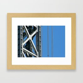 George Washington Bridge Detail Framed Art Print