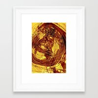 notorious Framed Art Prints featuring NOTORIOUS by BlackKirby1