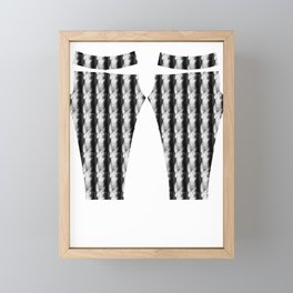 Naked women's body Framed Mini Art Print