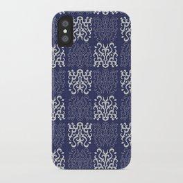 Pattern navy blue iPhone Case