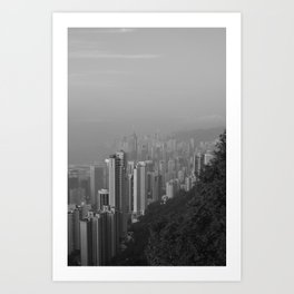 Hong Kong Island View Art Print
