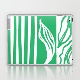 Long Leaf Stripe green Laptop & iPad Skin