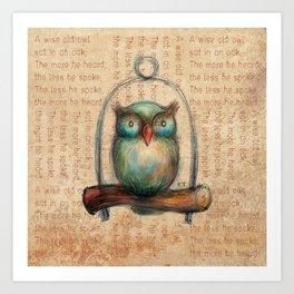 Wise Owl II Art Print