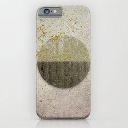 Glamorous Golden Circle Sparkling Elegance iPhone Case