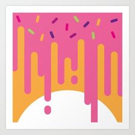 DonutWorry Art Print