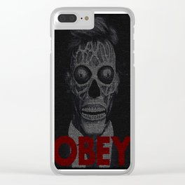 They Live. Obey. Screenplay Print. Clear iPhone Case