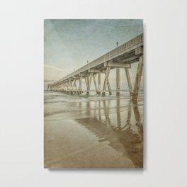 Johnny Mercer's Pier Long Exposure with Vintage Process Metal Print