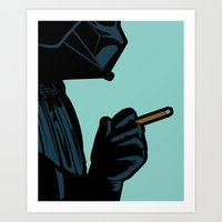 secret life of heroes Art Prints featuring The secret life of heroes - DarkBreath by Greg-guillemin