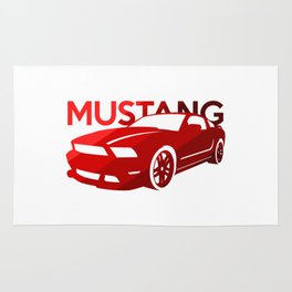 Ford Mustang Boss - classic red - Rug
