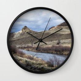 John Day River and Sheep Rock Wall Clock