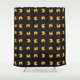 Floating Physalis Fruit Shower Curtain