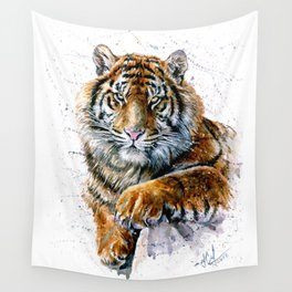 Tiger watercolor Wall Tapestry