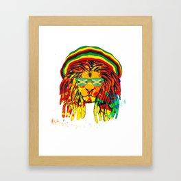 Reggae Music Lovers Jamaican Rasta Lion product Framed Art Print