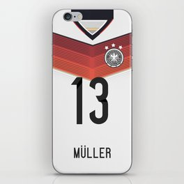 World Cup 2014 - Germany Müller Shirt Style iPhone Skin