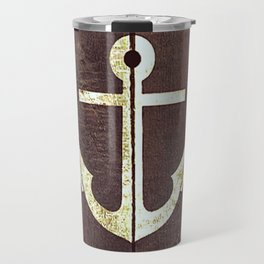 Anchor Wood Travel Mug