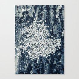 Silver sequins Canvas Print