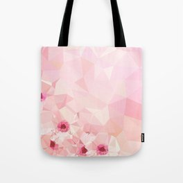 Pink Geometric Patter Tote Bag