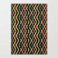 dna Canvas Prints featuring DNA by Shkvarok