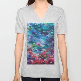 Underwater Floral  Unisex V-Neck