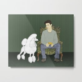 Meet the Poodle Metal Print