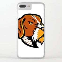 German Wirehaired Pointer Mascot Clear iPhone Case