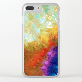 Angels Among Us - Emotive Spiritual Healing Art Clear iPhone Case