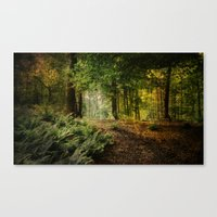 woodland Canvas Prints featuring Woodland by BlueMoonArt