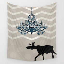 A Moose finds home Wall Tapestry