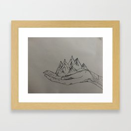 Mountain Hands Framed Art Print
