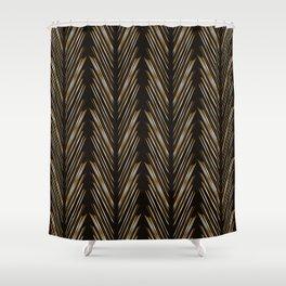 Wheat grass black Shower Curtain