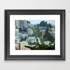 Lombard Street, San Francisco Framed Art Print